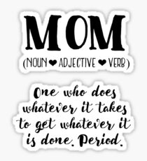 Mom: Noun, Adjective, Verb Sticker