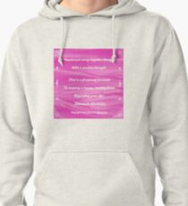 Counteract Every Negative Thought by Diamante Lavendar Pullover Hoodie
