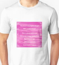 Counteract Every Negative Thought by Diamante Lavendar T-Shirt