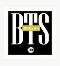 BTS/Bangtan Boys Stussy-inspired Logo/Text Art Print