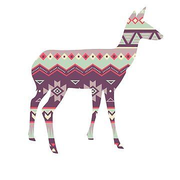 Tribal Deer  by TashaDawn