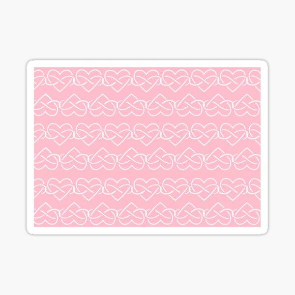 Polyamory Infinity Hearts Chain (Pink) Sticker