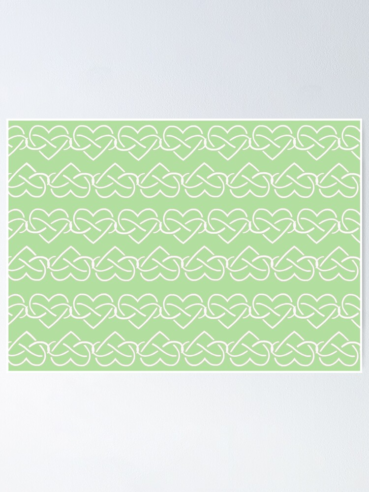 Alternate view of Polyamory Infinity Hearts Chain (Green) Poster