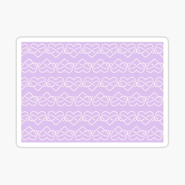Polyamory Infinity Hearts Chain (Purple) Sticker