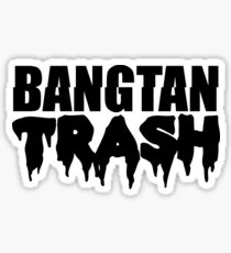 BTS/Bangtan Boys Trash Text Sticker