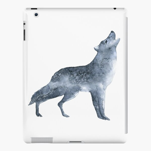 Wolf in the darkness iPad Snap Case