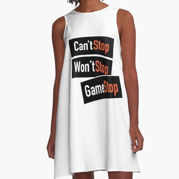 Wall Street Bets Stonks HODL GME AMC GameStop A-Line Dress