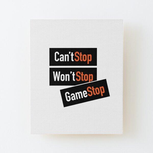 Wall Street Bets Stonks HODL GME AMC GameStop Wood Mounted Print