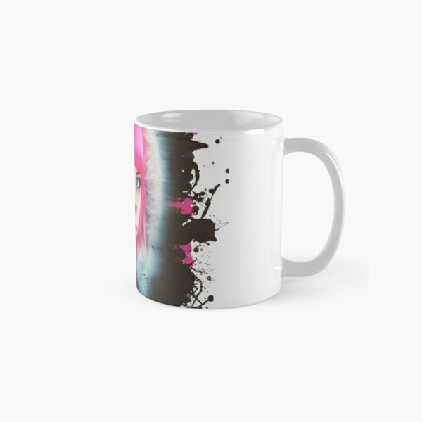 Stunning Pink Punk Girl with Piercings - Messy Painting Classic Mug