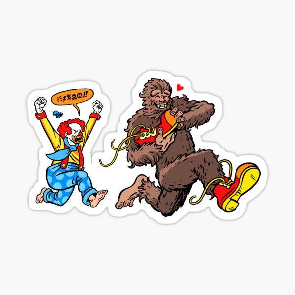 Bigfoot and Clown - Big Shoes to Fill Sticker