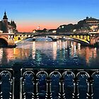 Original Painting: Pont d'Arcole, Paris, France. by Martin Lomé
