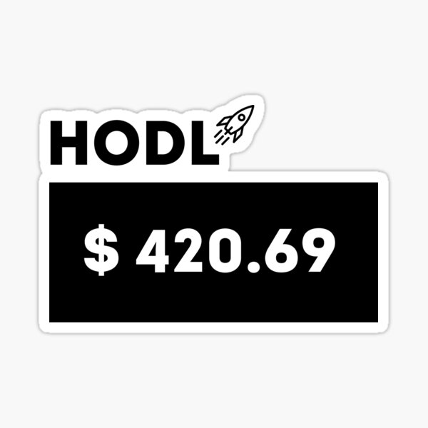 Wall Street Bets Stonks HODL GME AMC GameStop Sticker