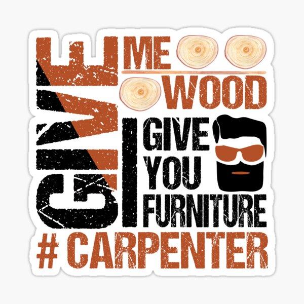 Bearded Carpenter Woodworker Handyman Make Wood & Furniture Sticker