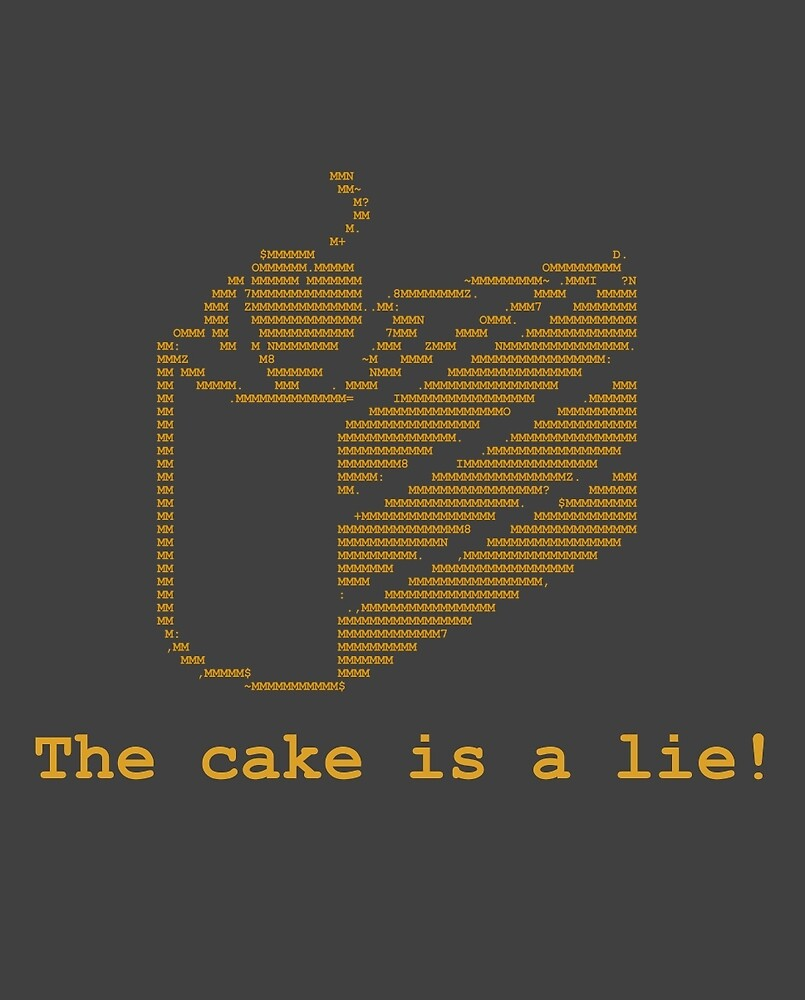 The cake is a lie! (fanart) by icecube928s4