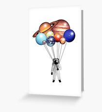Astronaut Balloons Greeting Card