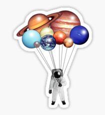 Astronaut Balloons Sticker
