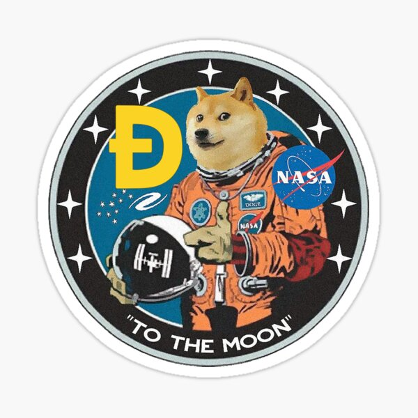Dogecoin to the moon - Crypto Dogecoin DOGE Sticker