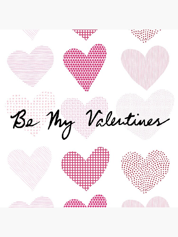 Be My Valentines (Patterned Hearts) by polyphiliashop