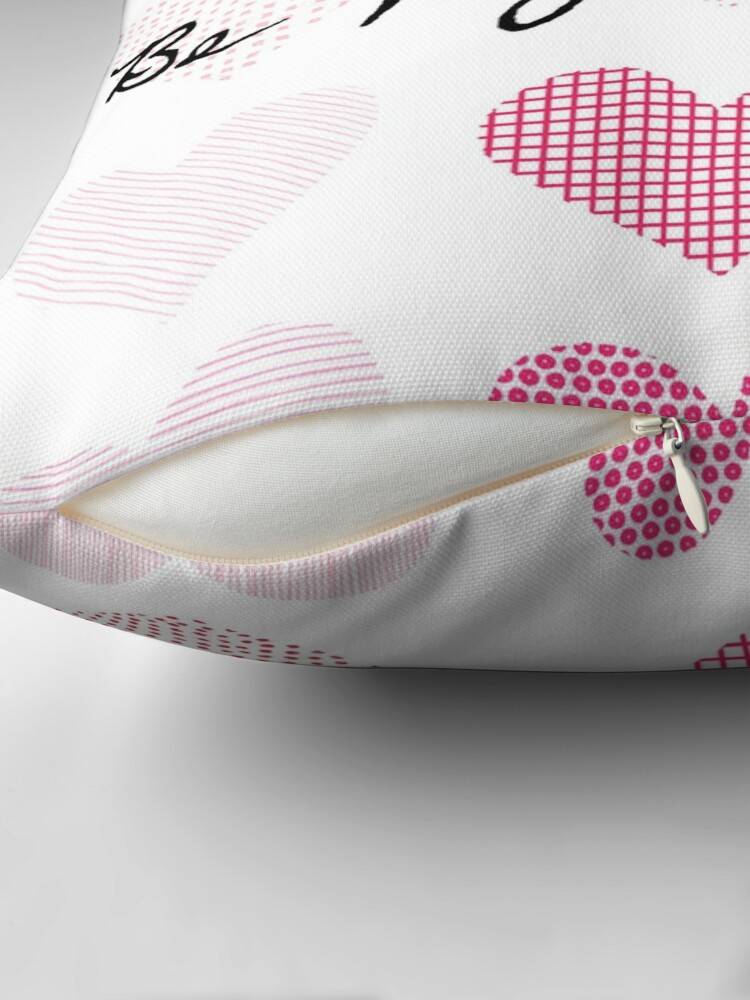 Alternate view of Be My Valentines (Patterned Hearts) Throw Pillow