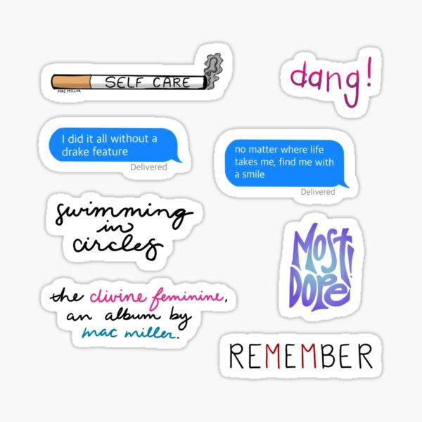 Pack d'autocollants Mac Miller Sticker
