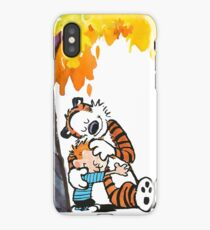 Calvin and Hobbes Under Tree iPhone Case/Skin