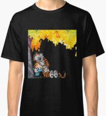 Calvin and Hobbes Under Tree Classic T-Shirt