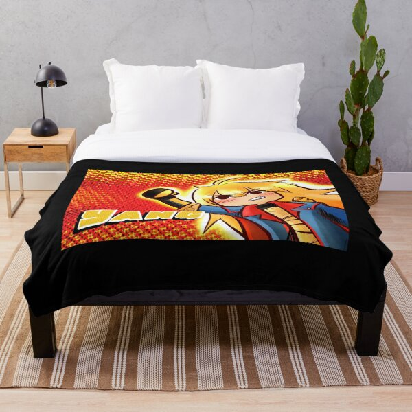 Superhero Yang Throw Blanket