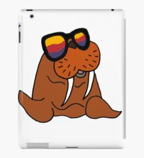 Hilarious Cool Walrus in Sunglasses  iPad Case/Skin