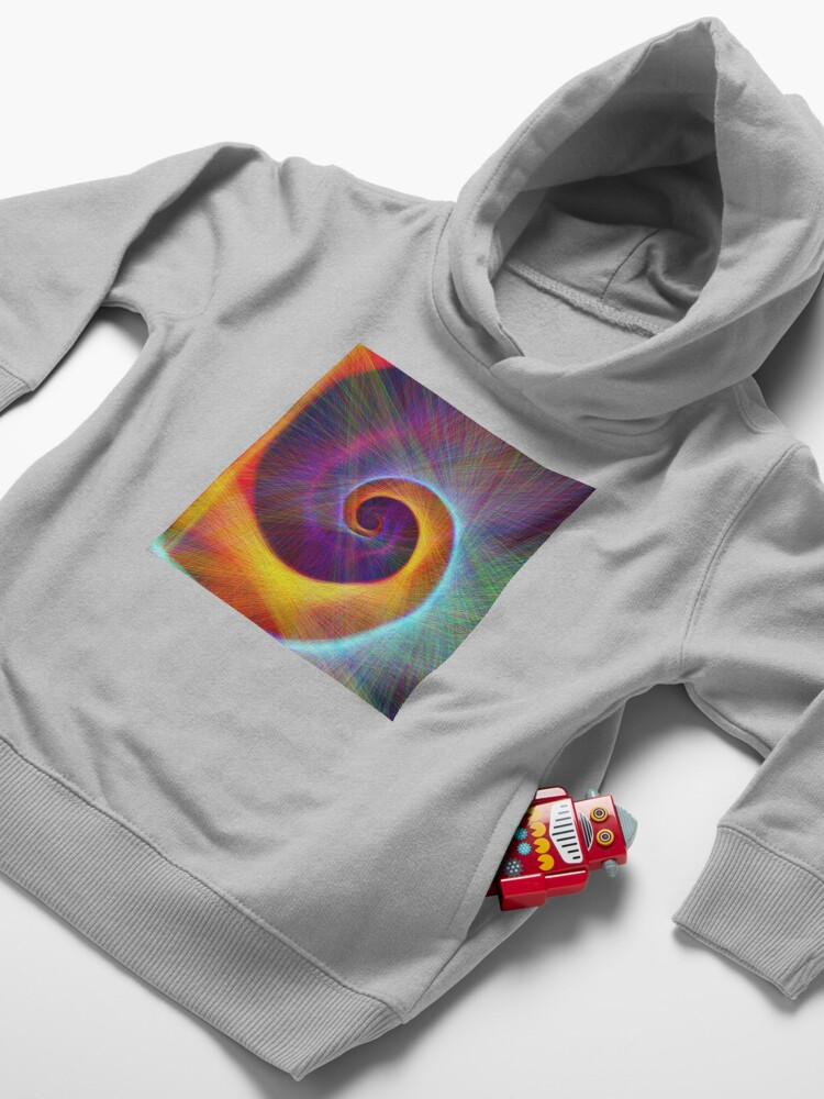 Alternate view of Fibonacci spiral, linify Toddler Pullover Hoodie