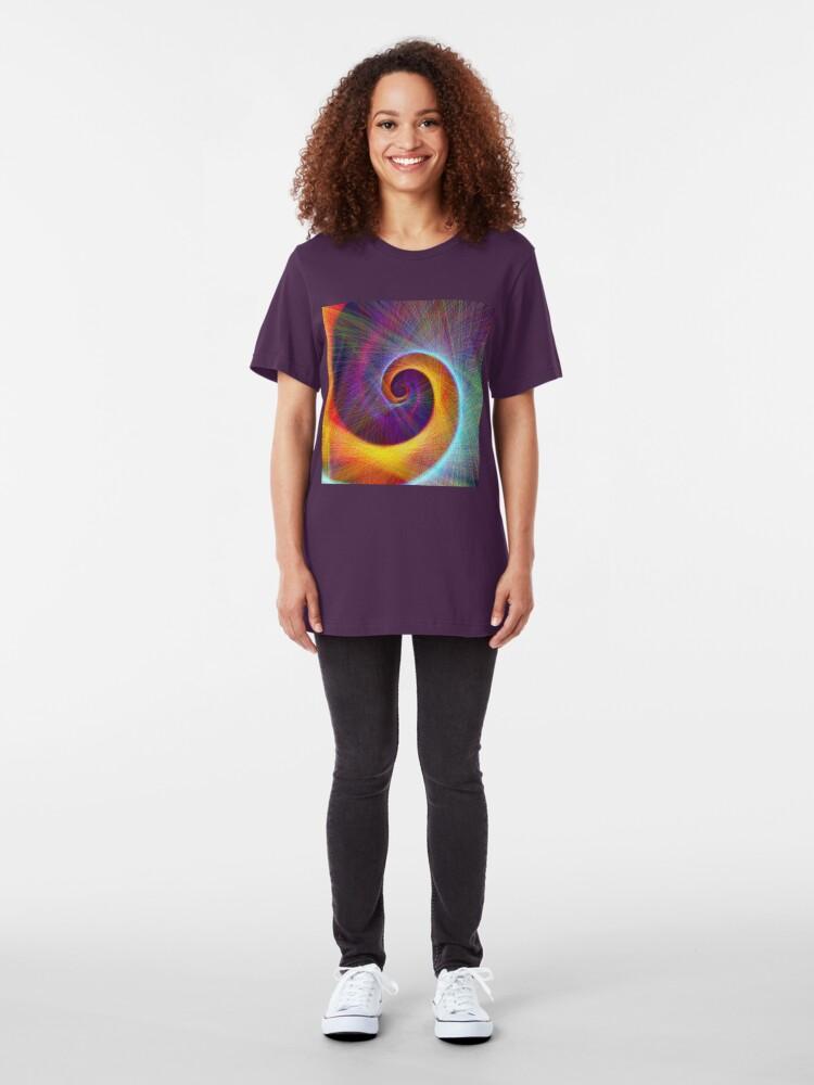 Alternate view of Fibonacci spiral, linify Slim Fit T-Shirt