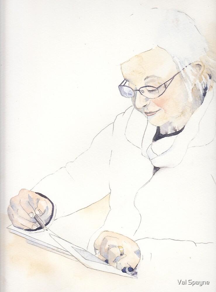 Drawing George by Val Spayne