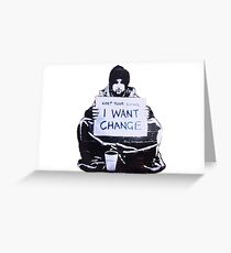 Banksy: Change Greeting Card