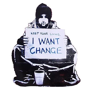 Banksy: Change by Blueasaurs