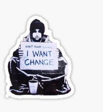 Banksy: Change Sticker