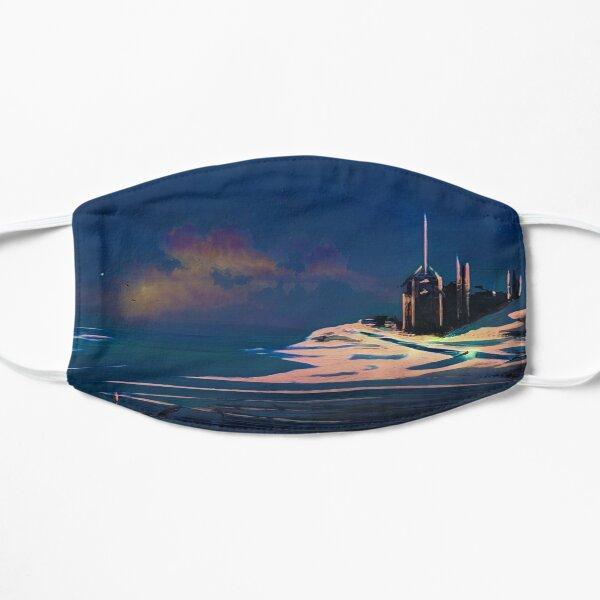 Futuristic Landscape At Night Mask