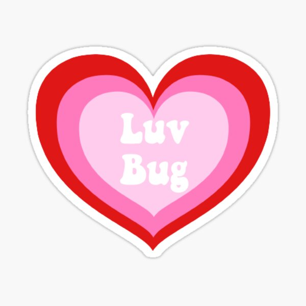 Luv bug  Sticker