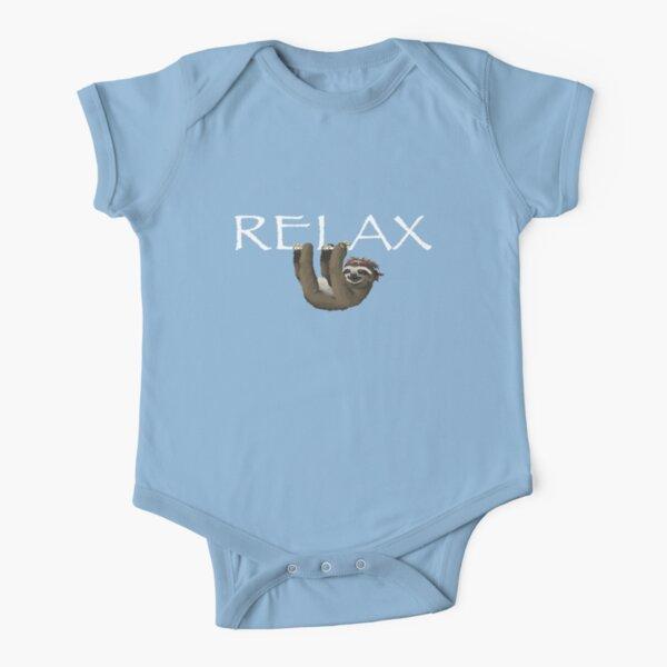 Relajar la pereza Body de manga corta para bebé