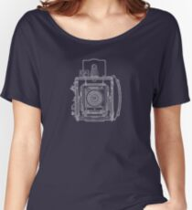 Vintage Photography - Graflex Blueprint Women's Relaxed Fit T-Shirt