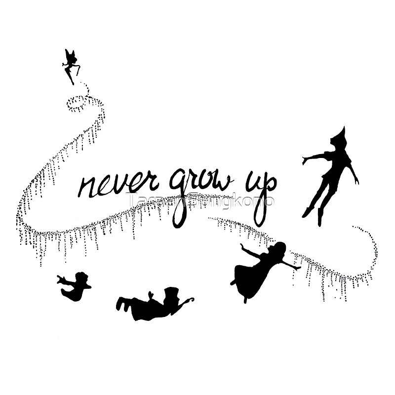 quotnever grow up peter panquot art prints by tarpansungkono