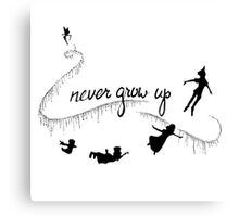 Never Grow Up Peter Pan Greeting Cards By Tarpansungkono Redbubble