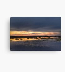 Sunset At Presthaven Beach Canvas Print