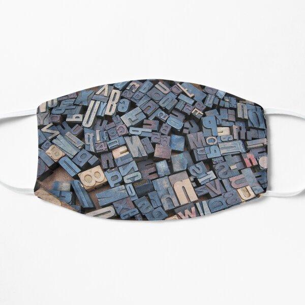 Linotype Blockbuchstaben Muster Flache Maske