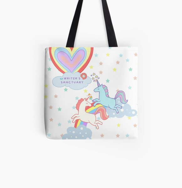 Unicorns and Donuts All Over Print Tote Bag