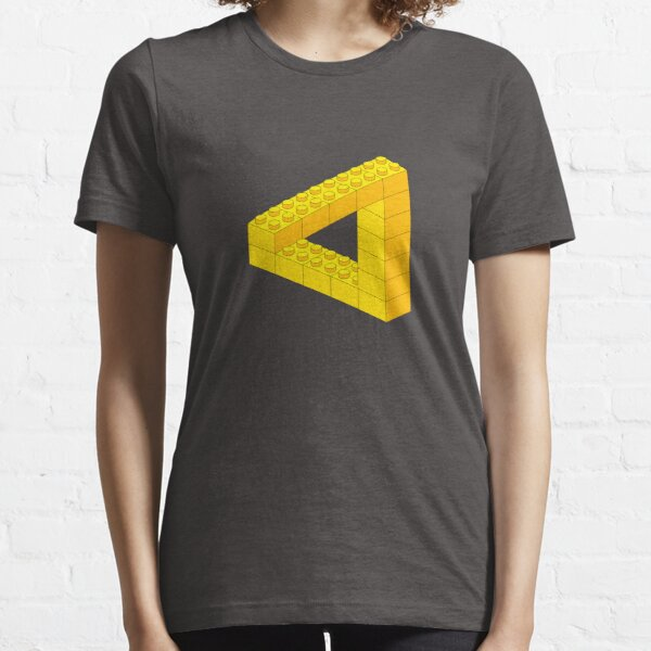 Lego-style impossible Penrose triangle shape Essential T-Shirt
