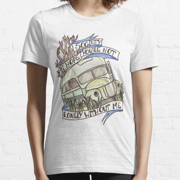 """En la salvaje """"sociedad"""" Camiseta esencial"""