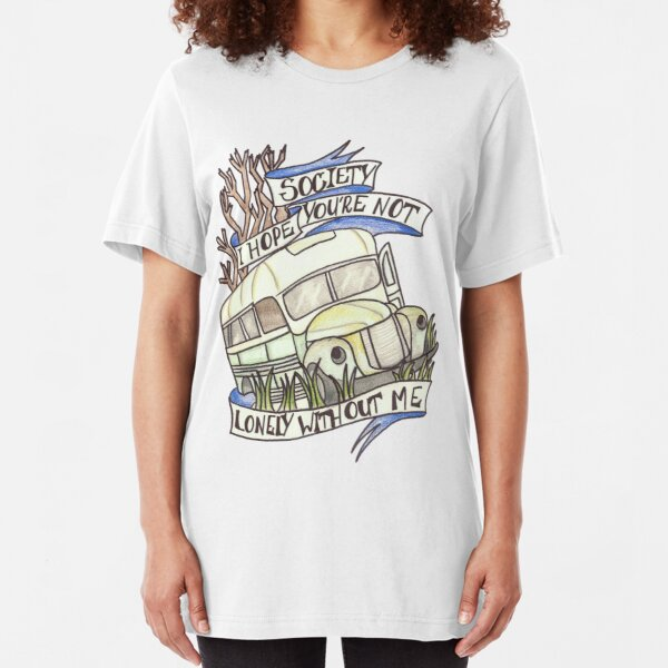 """Into the Wild """"Society"""" Slim Fit T-Shirt"""