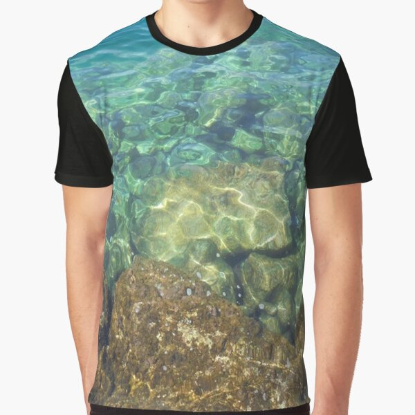 Greek Sea Water Graphic T-Shirt