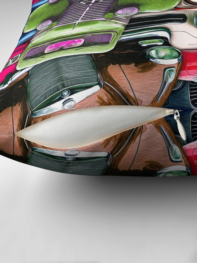 Alternate view of Abstract Auto Artwork Two Throw Pillow