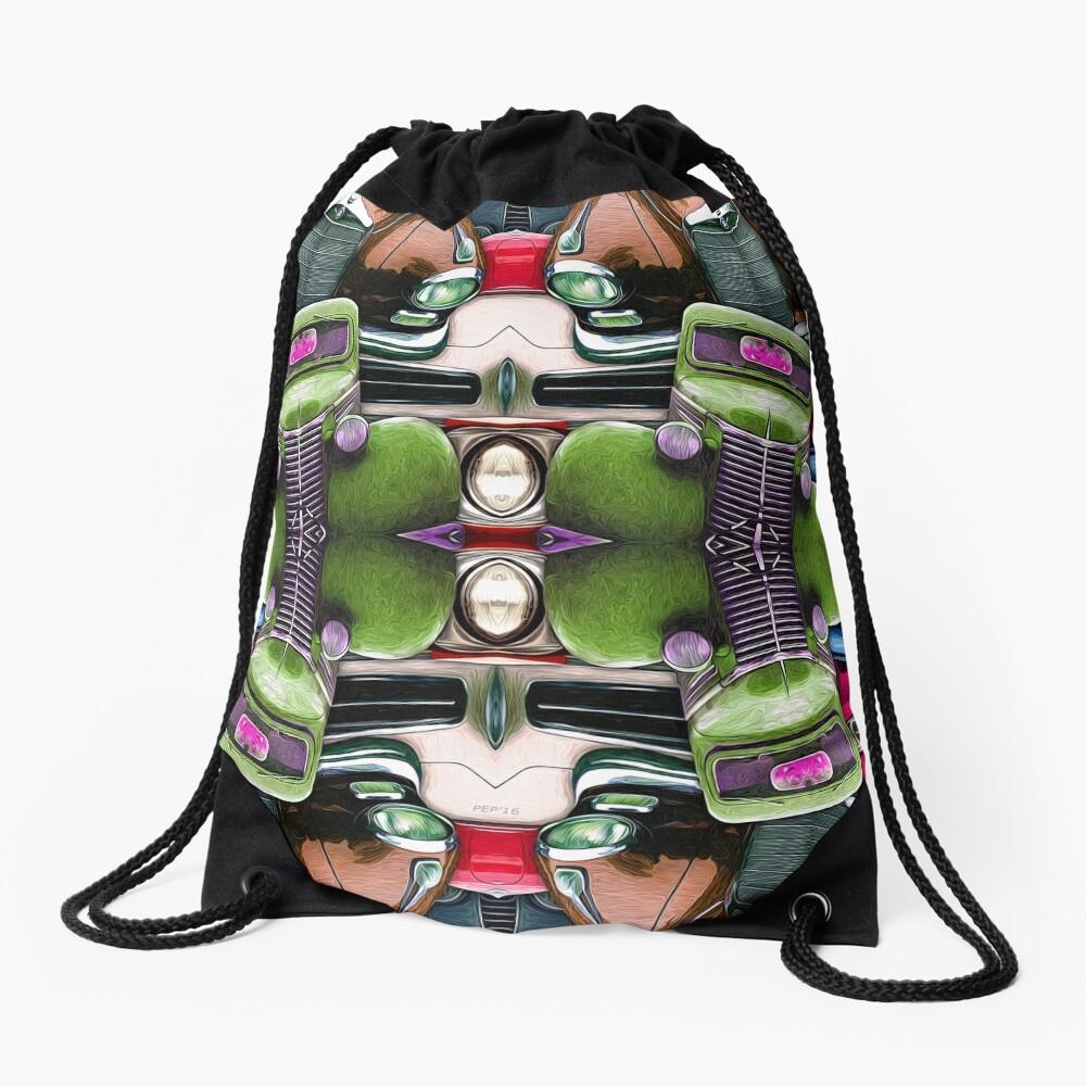 Abstract Auto Artwork Two Drawstring Bag