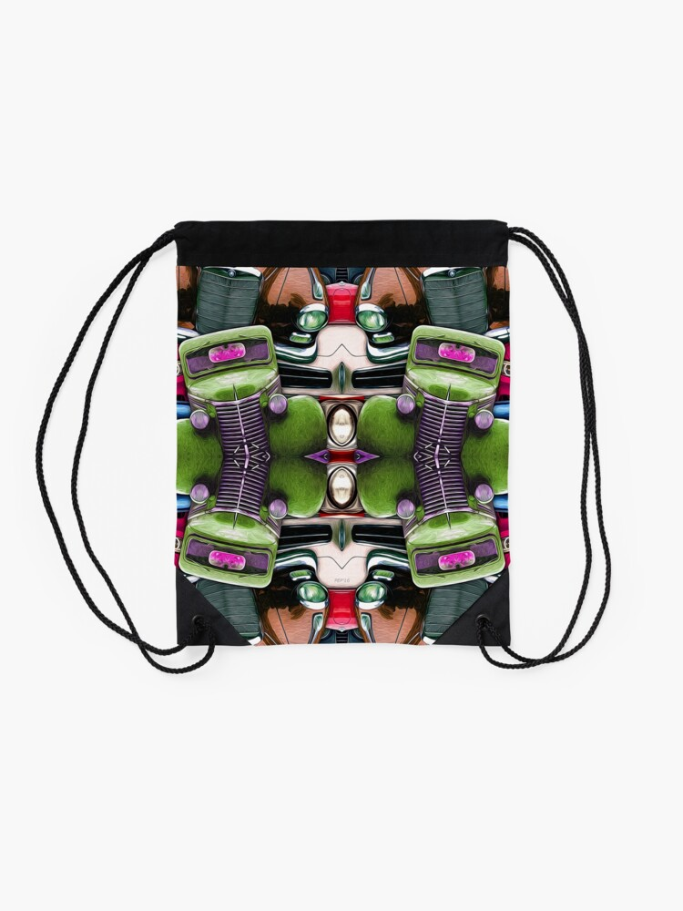 Alternate view of Abstract Auto Artwork Two Drawstring Bag